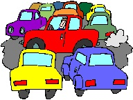 traffic jam cartoon